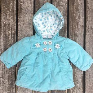 3-6mo Koala Baby Turquoise Corduroy Padded Jacket